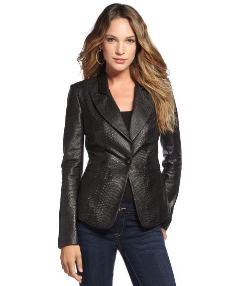 Embossed Leather Jacket (Stylist Pick!)