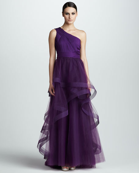 Illusion-Overlay Gown