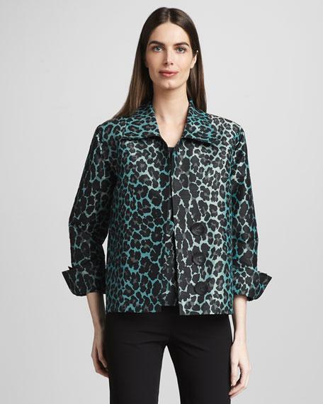 Cheetah-Print Shirt Jacket, Women's