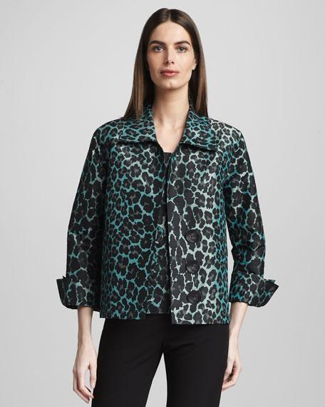 Cheetah-Print Shirt Jacket