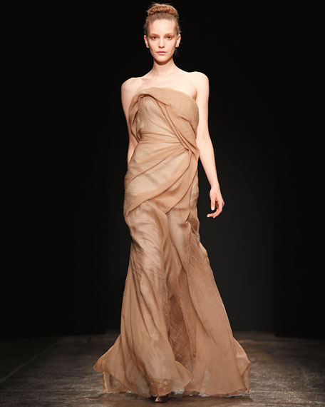 Swirl of Seduction Draped Gown