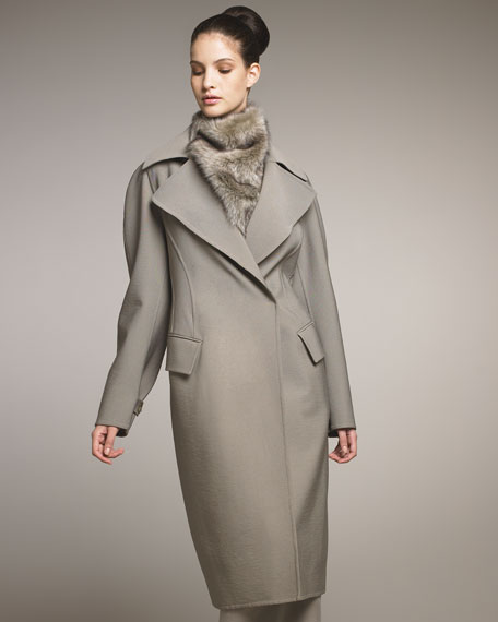 Double-Face Stretch Molded Coat
