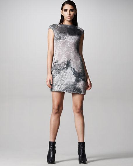 Jersey Decay-Print Dress