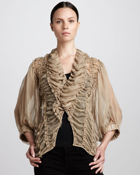 Corded Ruched Blouse