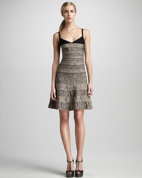 Scalloped Drop-Skirt Bandage Dress