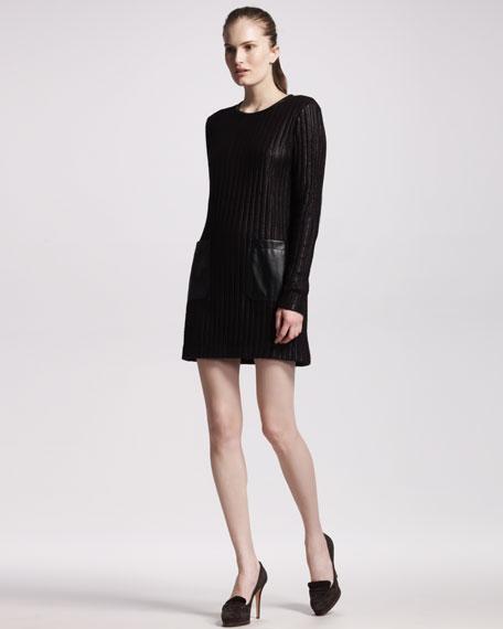 Ribbed Pocketed Dress