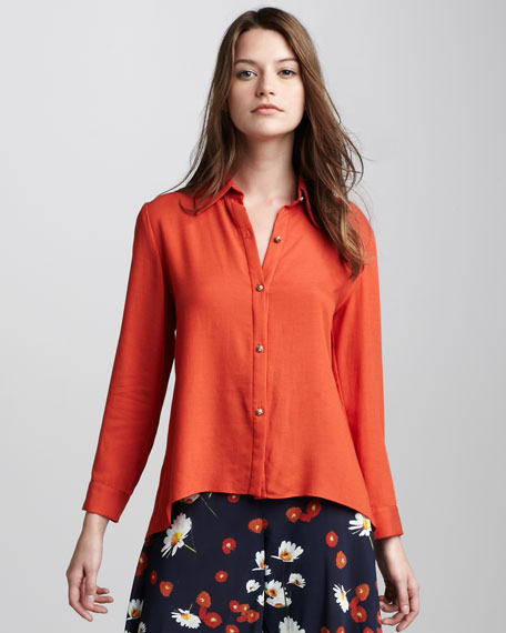 Drew Peplum-Back Blouse