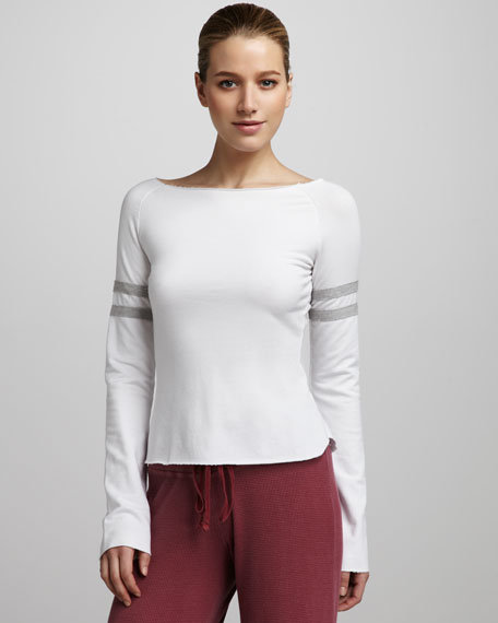 French Terry Varsity Long-Sleeve Top