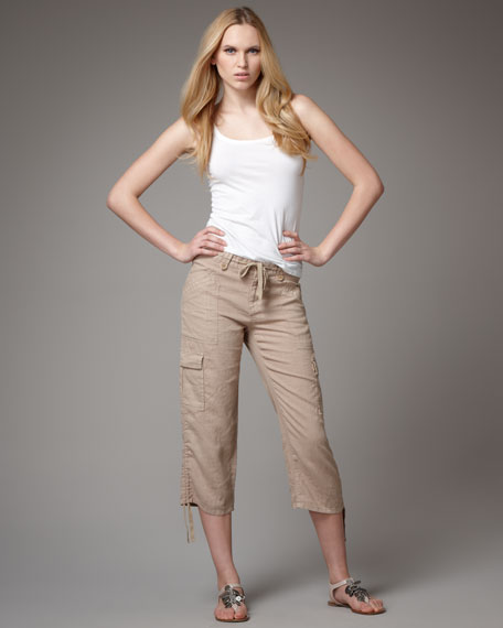 Delancy Cropped Cargo Pants