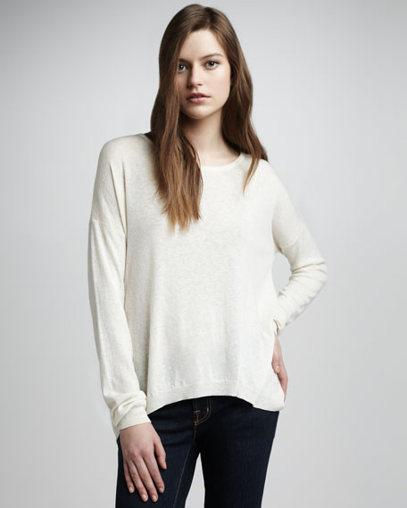 Uneven Boat-Neck Sweater