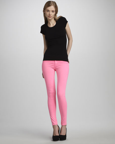 Skinny Jeans, Neon Pink