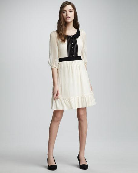 Meadow Contrast-Collar Dress