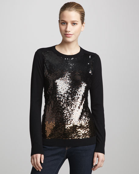 Ombre Sequined Sweater