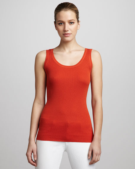 Cashmere Ribbed Tank