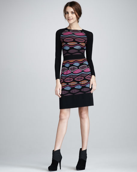 Oval Stripe Dress