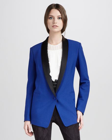 Tailored Techno Tuxedo Blazer