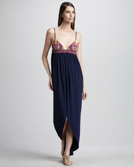 Bead-Top Maxi Dress