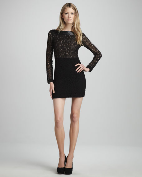 Sarita Pebble-Lace Combo Dress