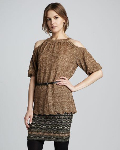 Metallic Zigzag Skirt