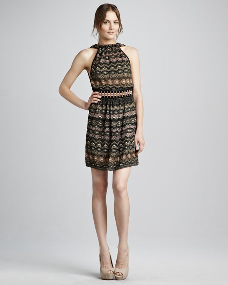 Zigzag Halter Dress