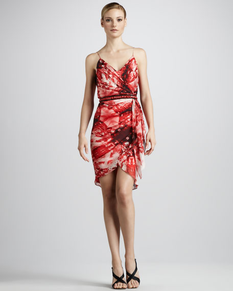 Floral-Print Cocktail Dress