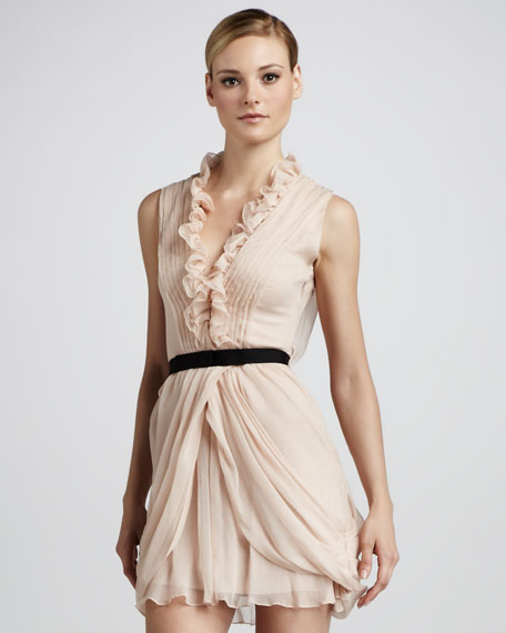 Ruffled Cocktail Dress