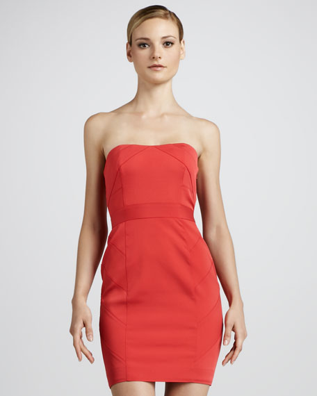 Strapless Paneled Cocktail Dress