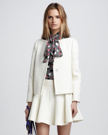 Janie Leather-Trim Jacket