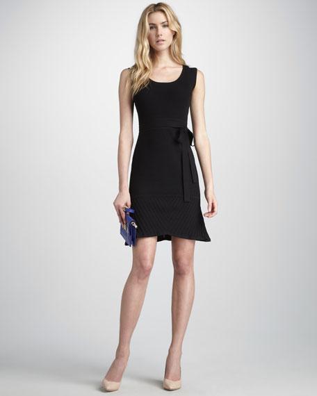 Ava Tie-Waist Dress, Black