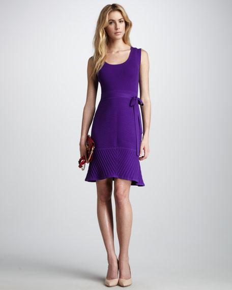 Ava Tie-Waist Dress, Violet