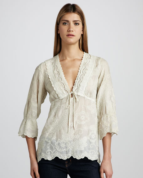 Mary Jay Embroidered Tunic