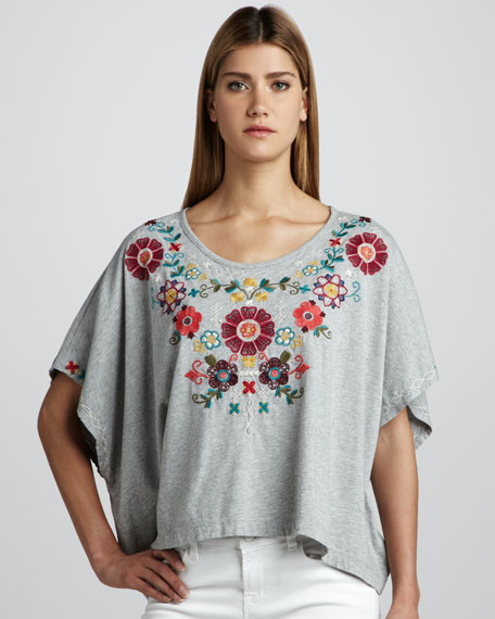 Elsa Embroidered Tee, Women's