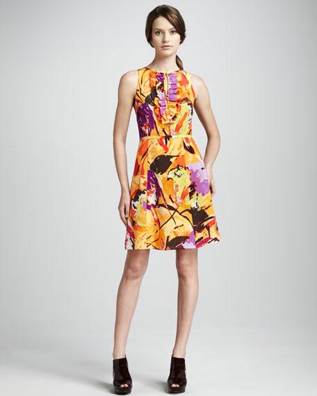 Fall Bouquet Silk Dress