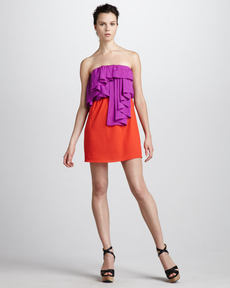 Strapless Colorblock Dress
