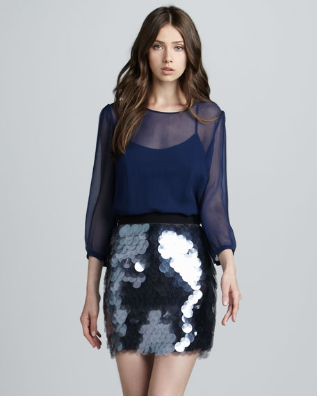 Paillette Sequin Skirt