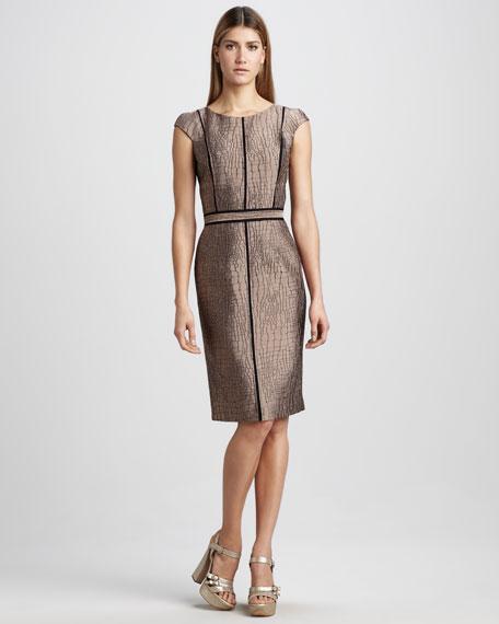 Croc-Textured Dress