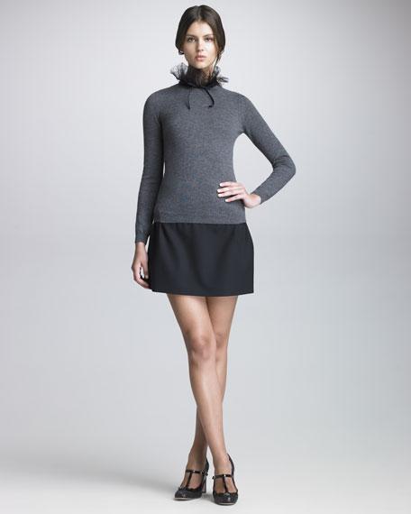 Short Crepe Skirt