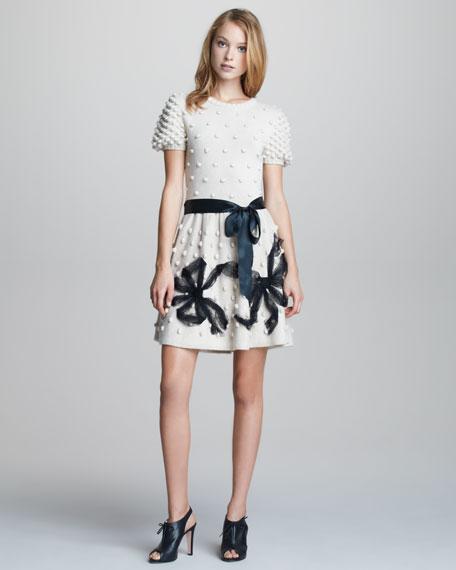 Popcorn-Knit Dress