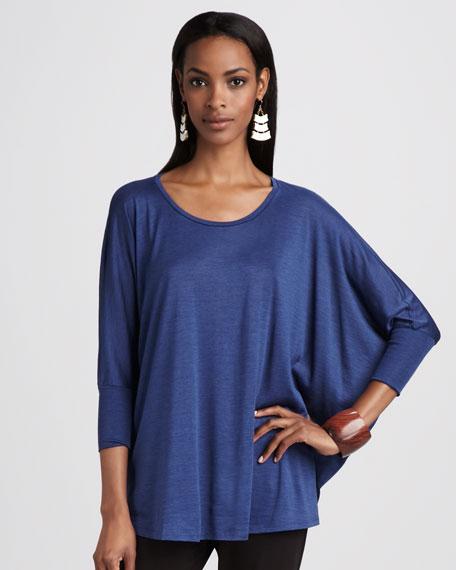 Boxy Silk-Jersey Top
