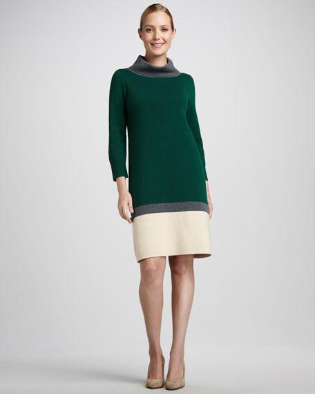 brandis colorblock sweaterdress