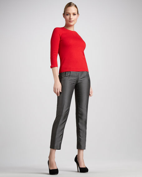 avery dot-print skinny pants