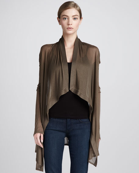 Sheer Asymmetric Cardigan
