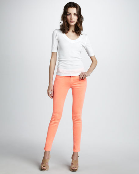 High-Rise Skinny Ankle Jeans, Highlighter