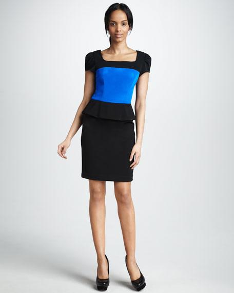 Mookie Short-Sleeve Dress with Peplum