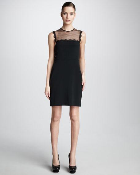 Lace-Top Silk Dress