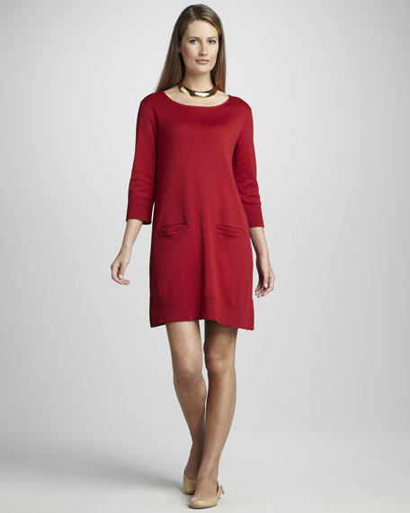 Two-Pocket Pima Dress, Petite