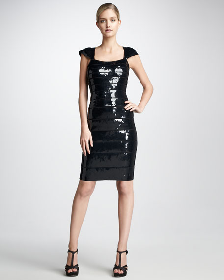 Sequined Bandage Dress