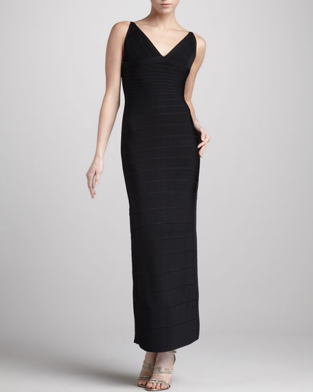 V-Neck Bandage Gown