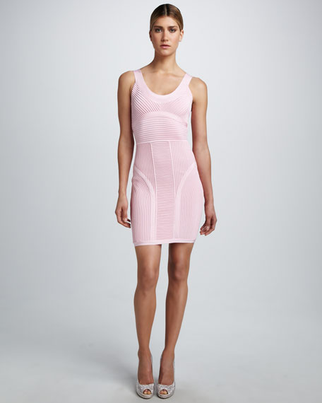 Scoop-Neck Bandage Dress