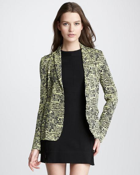 Victor Tweed-Print Jacket